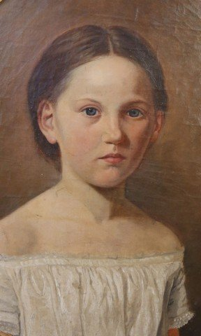 Portrait  of a Young Girl by 19th Century American School