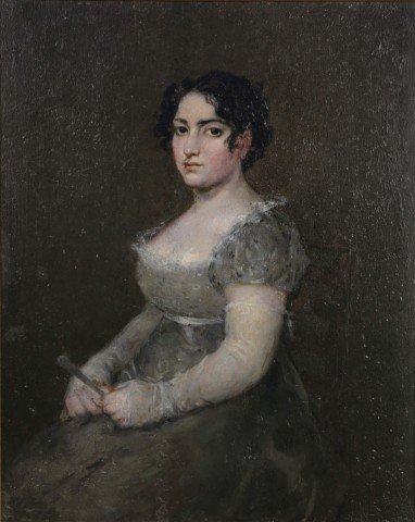After Francisco Goya-Portrait of a Lady with a Fan by After Francisco Goya