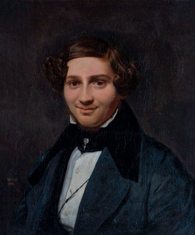 Portrait of a Handsome Young Gentleman by Alexandre Hesse