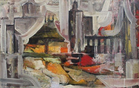 Abstract Interior Scene by Janet Robson Kennedy