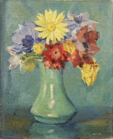 Still Life, Vase of Flowers by Abel G. Warshawsky