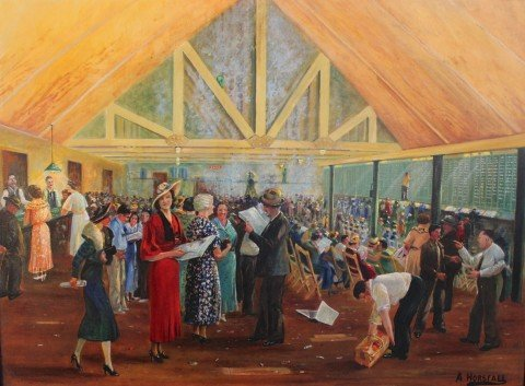 With The Bookies by Arthur Horsfall