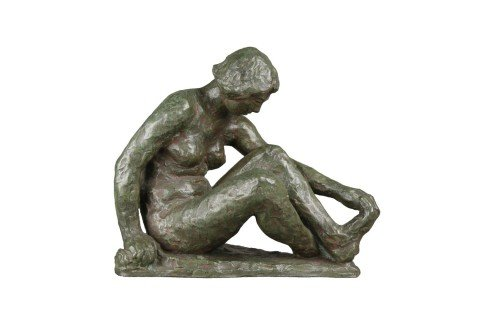 Seated Nude Dancer, Holding her Foot by 20th Century School
