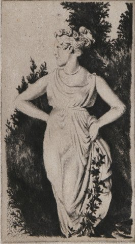 Figurative Etching Drawing: