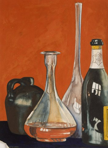 Still Life Watercolor on Paper Painting: