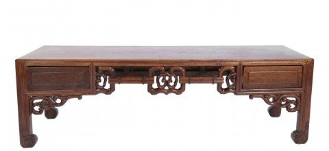 A Chinese Rosewood  Low Table by 19th Century Chinese School