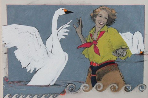Leda and The Swan by Donna Howell-Sickles