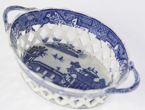 An English Soft Paste Porcelain Chestnut Basket by 18th Century British School