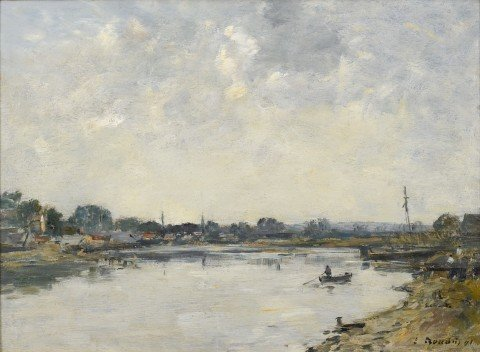 Si-Vallery	Sur Somme by Eugene Boudin