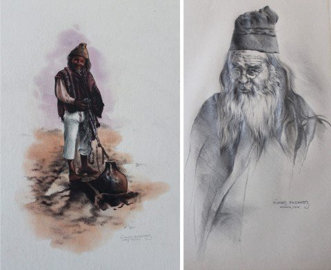 Chinese Scholar & Andean Man by Milford Goldfarb