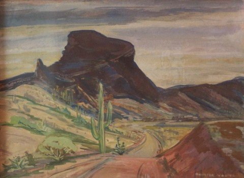 Desert Landscape by Quinter Young