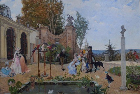 At the Villa Borghese by Lorenzo Valles