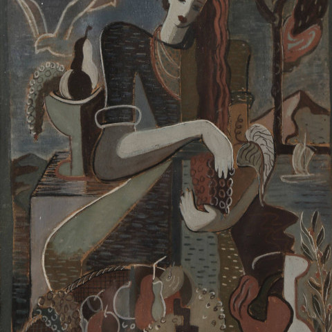 Woman and Fruit by 20th Century School