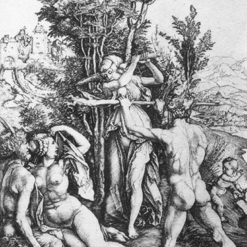 The Combat of Virtue and Pleasure in the Presence of Hercules by Albrecht Dürer
