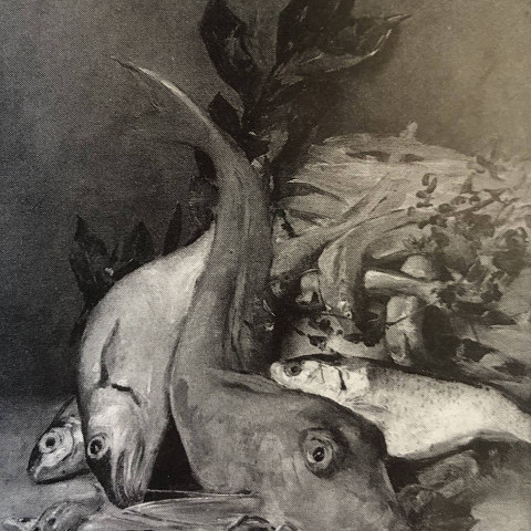 Still Life of Fish by Charles-Émile Jacque