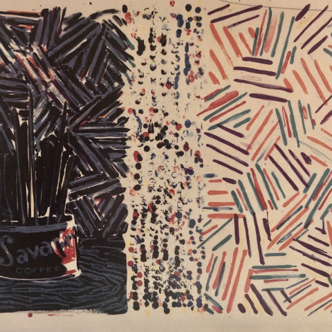 Untitled (Fields 258) by Jasper Johns