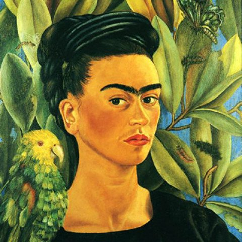 Self-Portrait with Bonito by Frida Kahlo