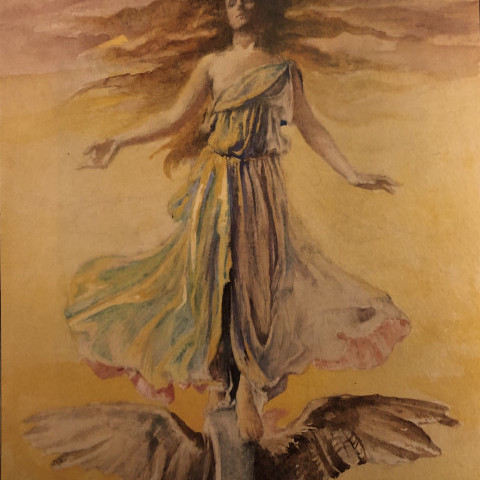 Study for Frick Building Window, Pittsburgh, PA by John La Farge
