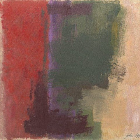 Abstract Oil on Board Painting: