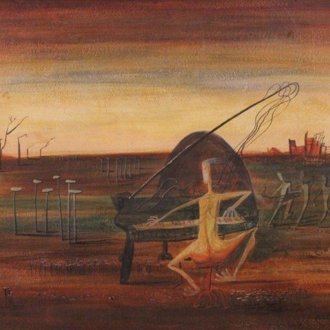 Surrealist Orchestra by 20th Century American School