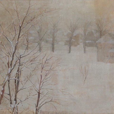 Winter Landscape by Otto Henry Bacher