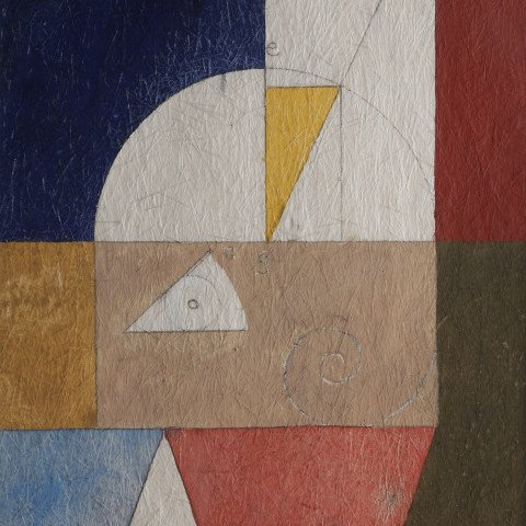Abstract Acrylic and Graphite on Scintilla Painting: