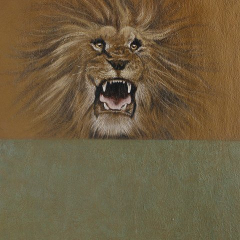 Animal Acrylic on Textured Paper Painting: