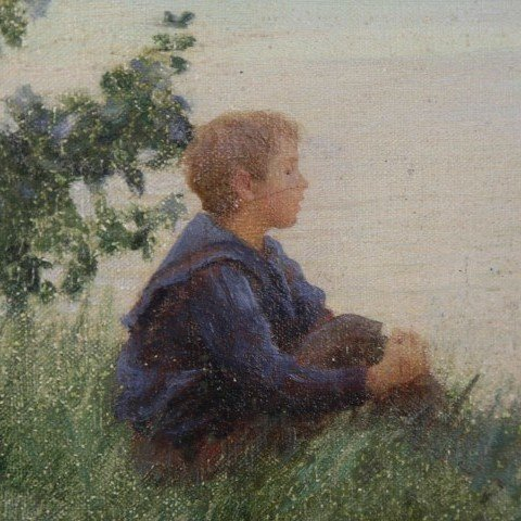 Boy and the Sea by Charles Courtney Curran