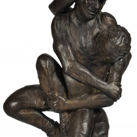Wrestlers by David Deming