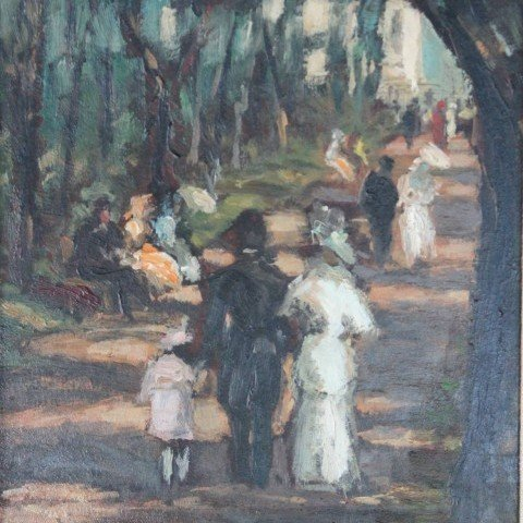 La Promenade by 19th Century American School
