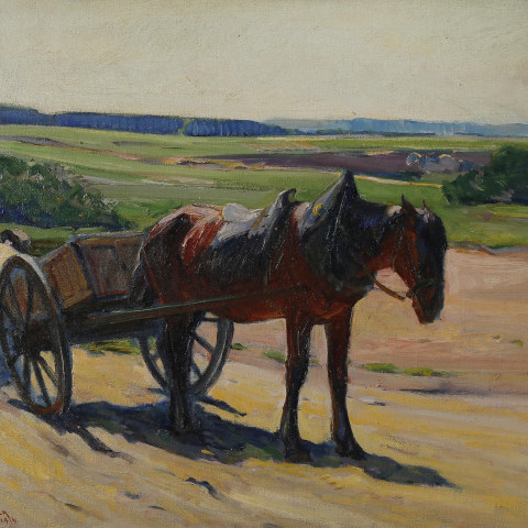 Horse and Cart by Henry George Keller