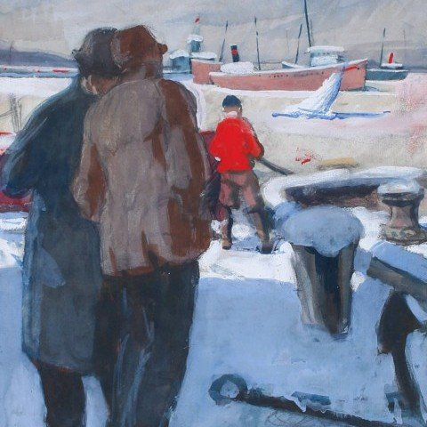 The Iceboat, Cleveland, Ohio by Frank Nelson Wilcox