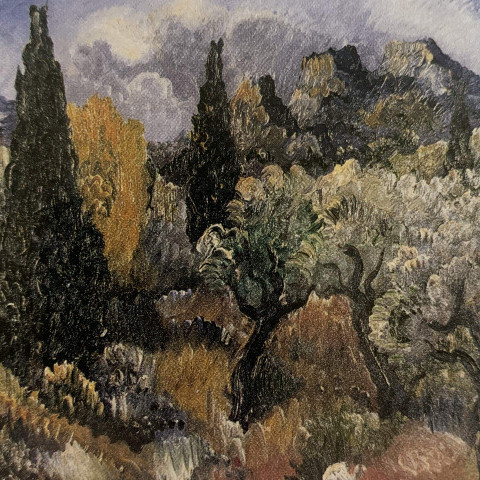 Landscape with Cypress Trees by Paul Kleinschmidt
