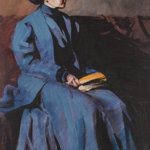 Lady in Blue by Frank Nelson Wilcox