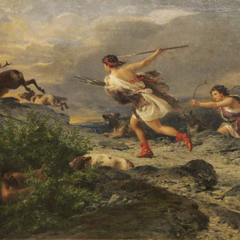 Diana the Huntress by Nikolaus Baur