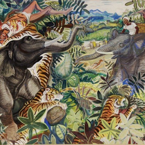 Maharaja's Hunting Party by Paul Bough Travis