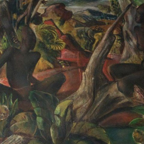 Jungle Courting Scene by Paul Bough Travis