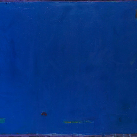 Untitled, Abstract in Blue by Roger Bollen