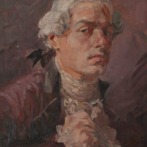 Self-Portrait in Colonial Costume by Frank Nelson Wilcox