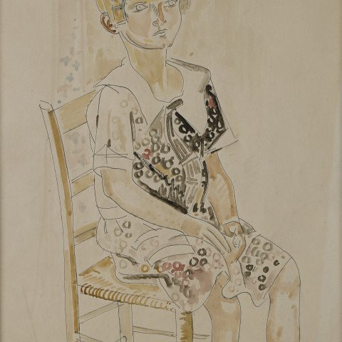 Young Girl #2 (Portrait of Tess Dominski) by William Sommer