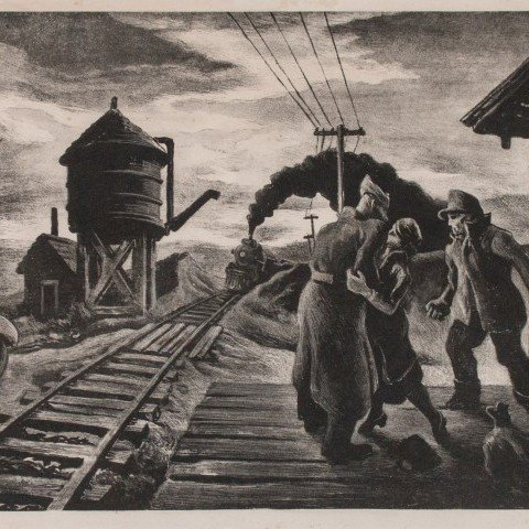 Morning Train [Soldier's Farewell] by Thomas Hart Benton