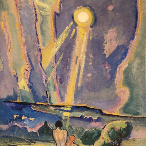 Adam and Eve at Sunset by William Sommer