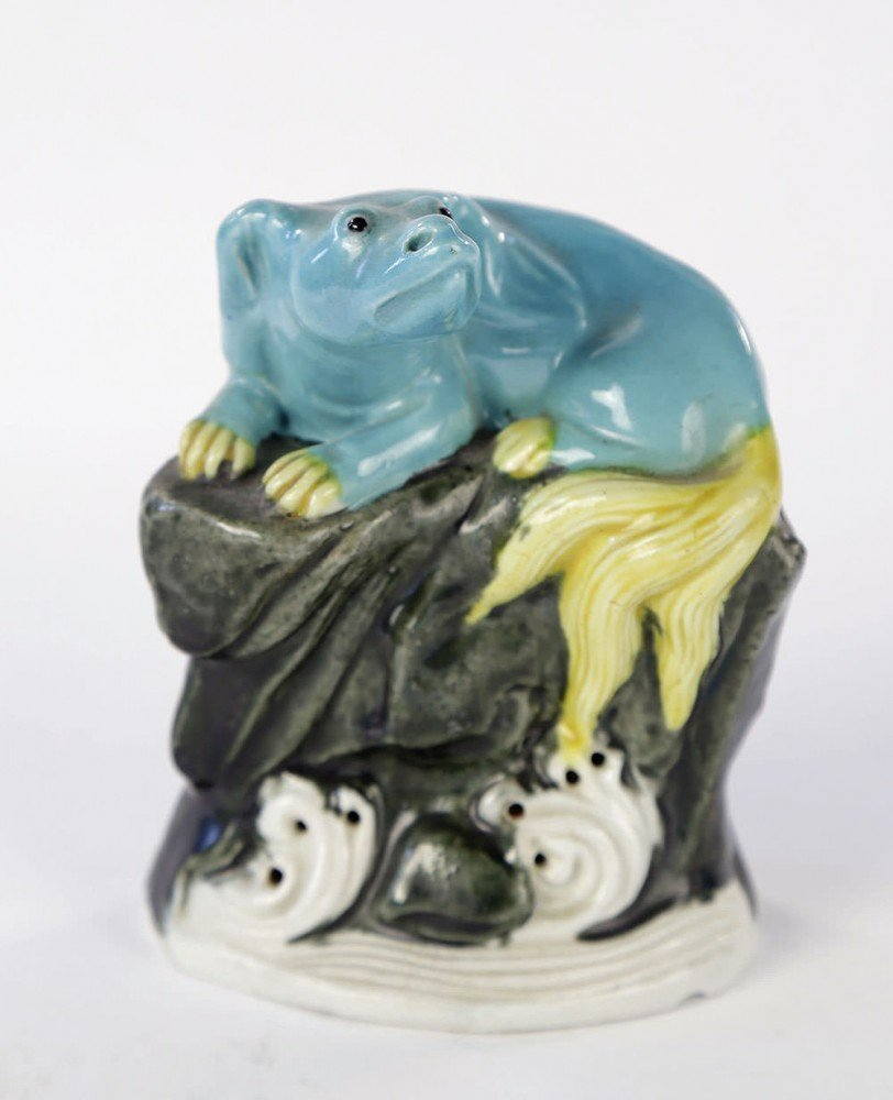 Chinese Ceramic Figure of a Dog, late 19thc.
