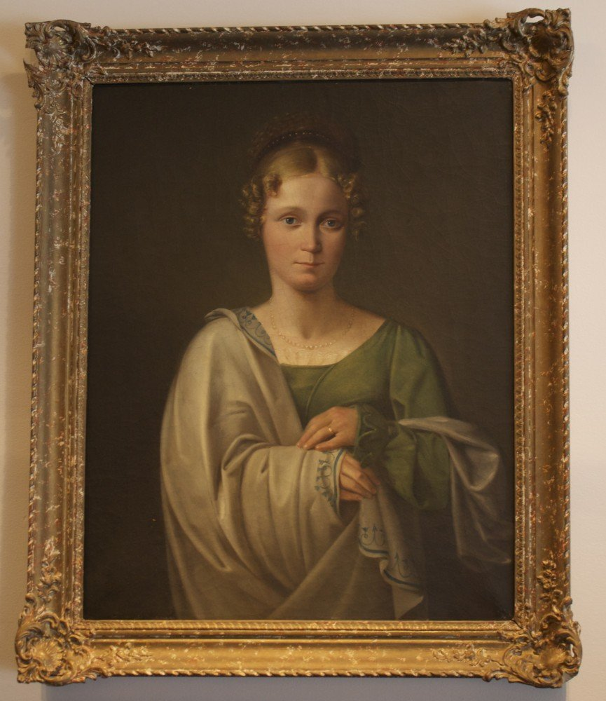 Portrait of a Young Woman Wearing a Diadem