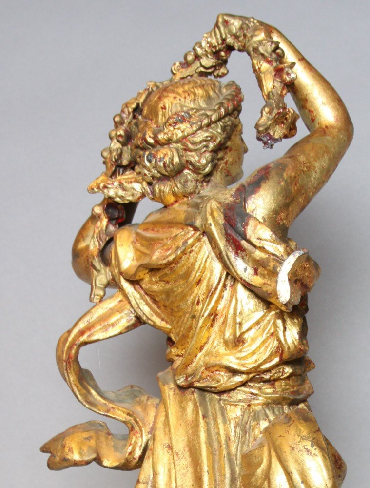 Gilt Metal Figure of a Goddess, Flora
