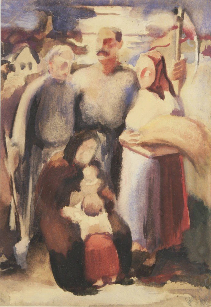 19th/20th Century European Family at the Harvest