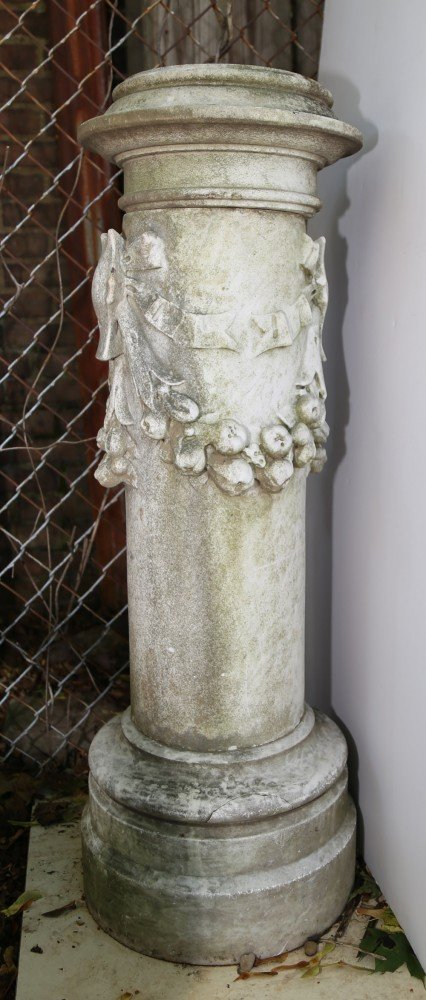 A Neoclassical Carved Marble Pedestal, ca. 18th/19thc.