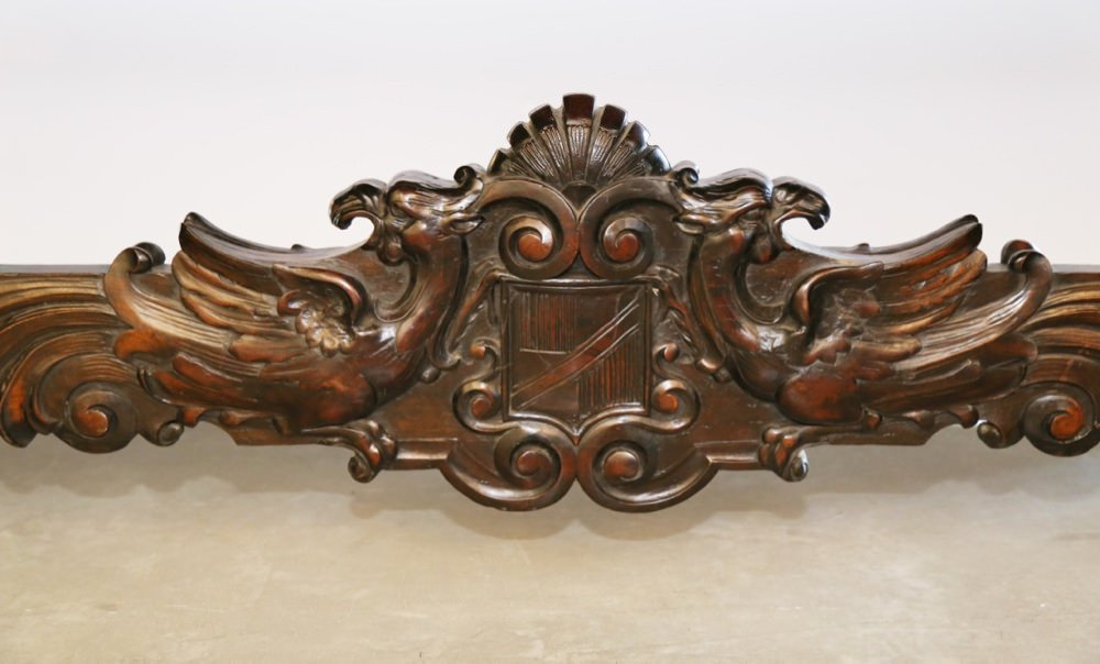 An Italian Baroque Style Walnut Library or Refectory Table, American, late 19thc.