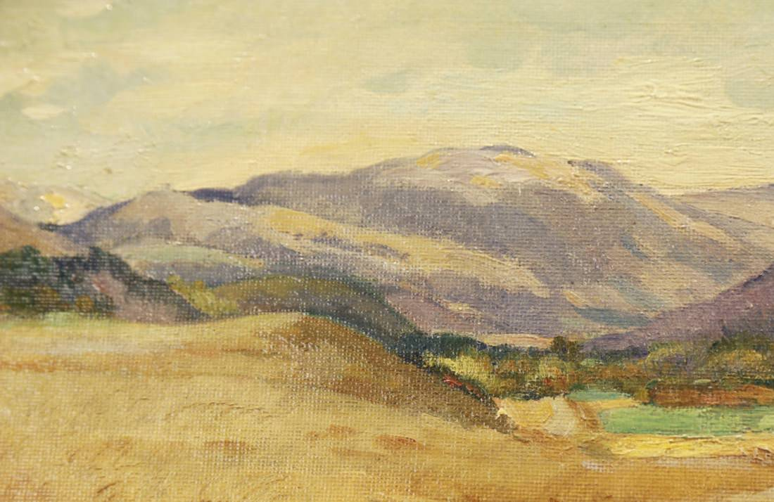 Pair of Cows in Mountain Landscape  by Abel G. Warshawsky