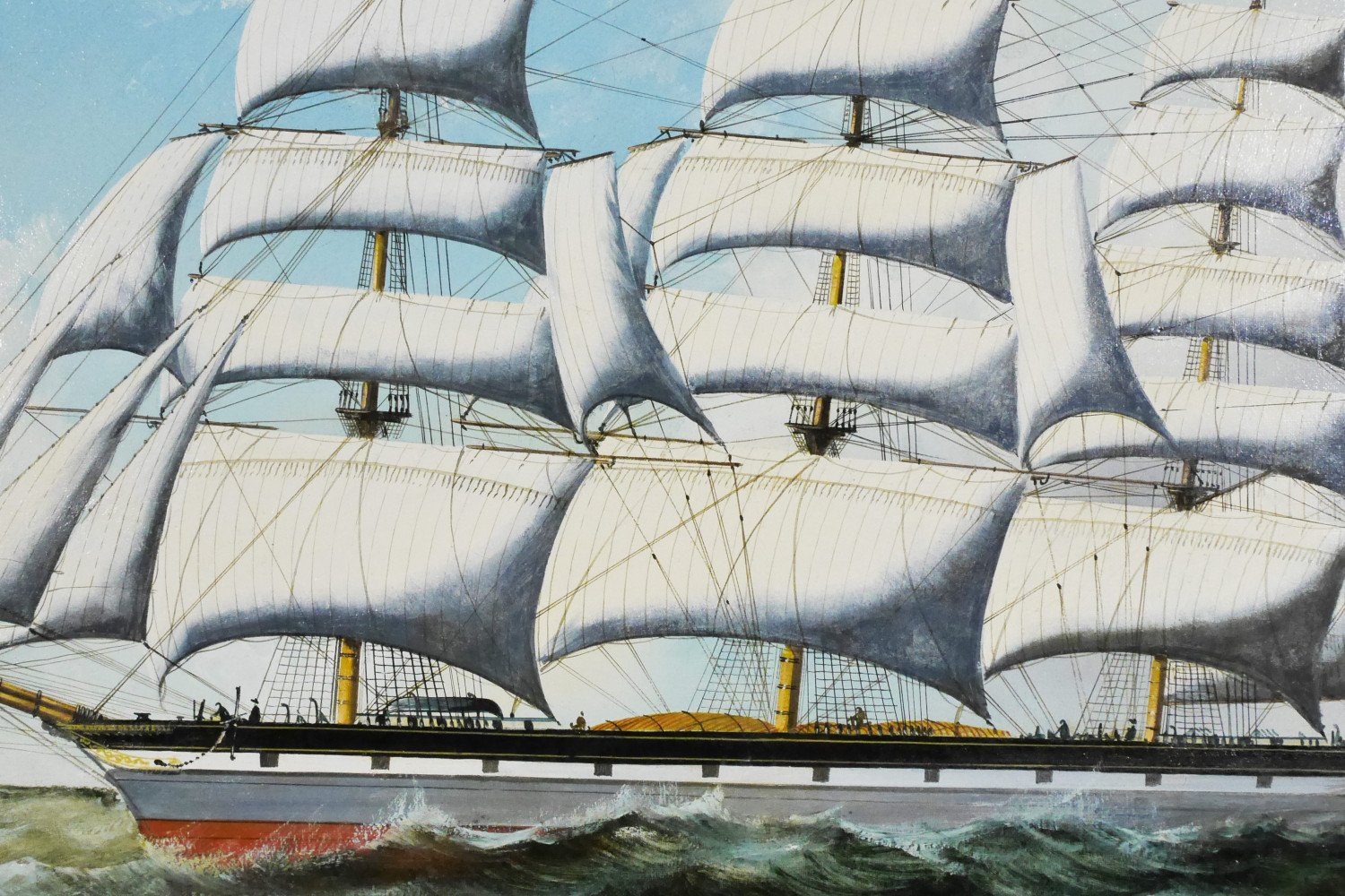 The Clipper Mary Lee in High Seas by 19th Century American School